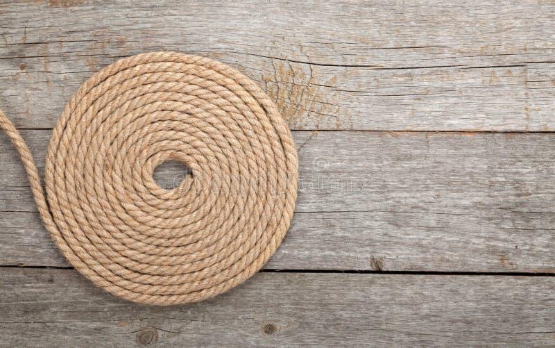 Rouleau de corde de bateau image stock