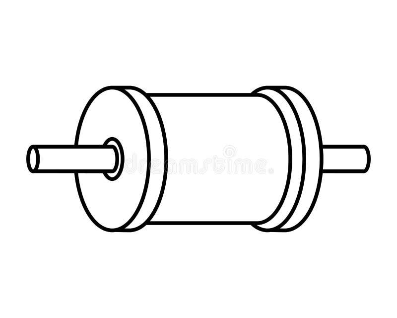 Rouleau de fil pour le cerf-volant illustration stock