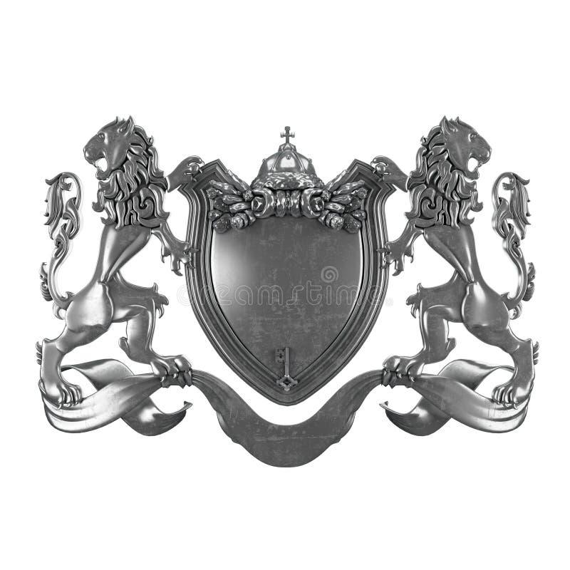 Rouleau de lions de bras avec l'écran protecteur illustration stock