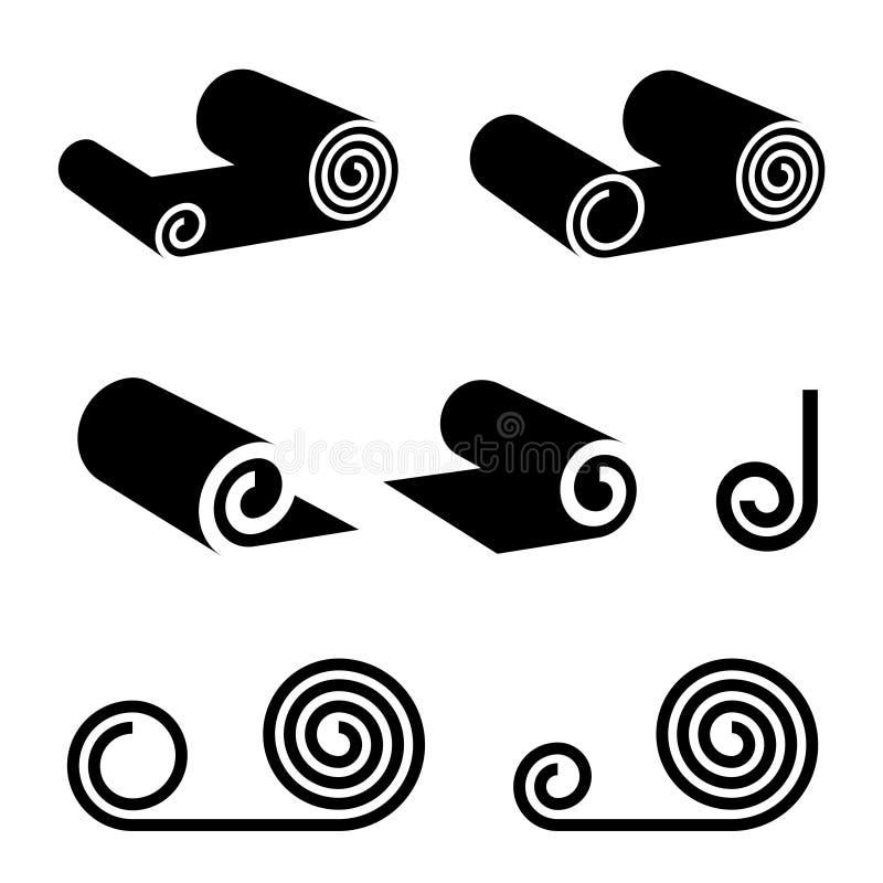 Rouleau de n'importe quoi symbole de noir illustration libre de droits