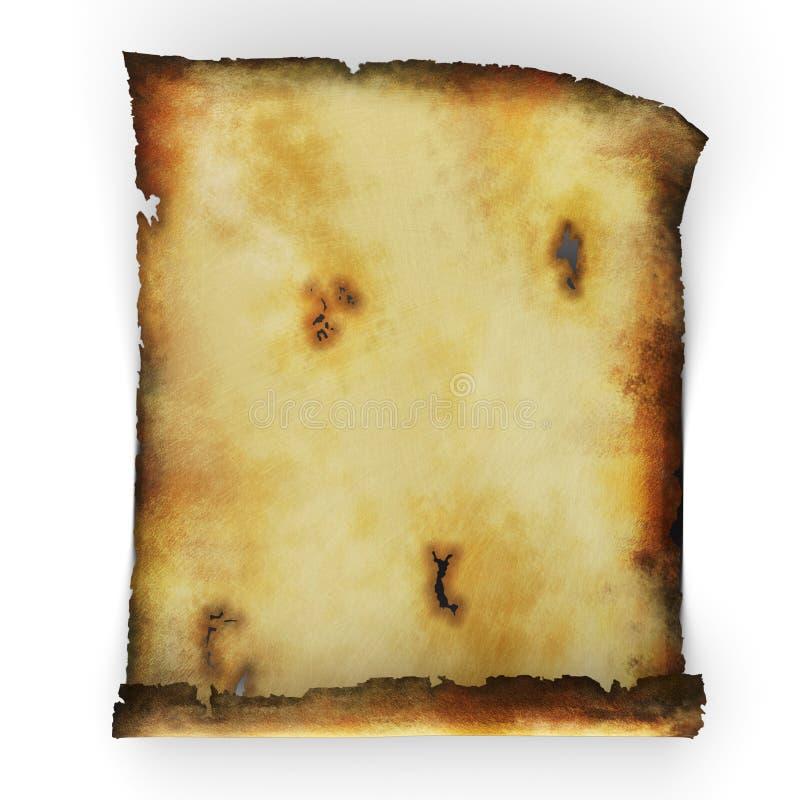 Rouleau de papier brûlé  illustration libre de droits