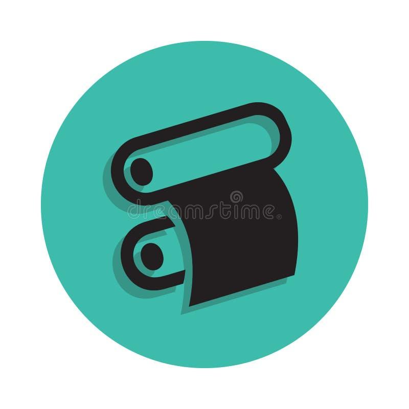 rouleau de papier d'une icône de presse typographique Élément de maison d'impression pour le concept et l'icône mobiles d'apps de illustration libre de droits
