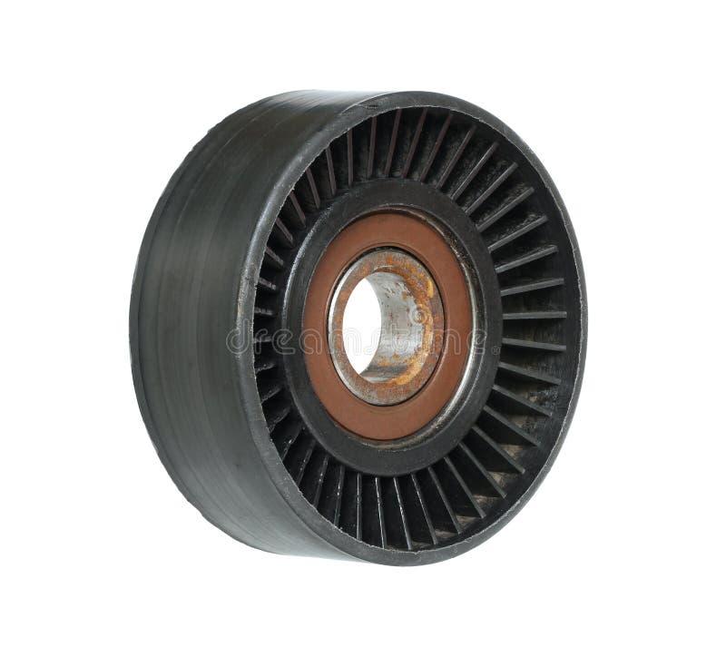 Rouleau de tendeur de ceinture de moteur photo stock