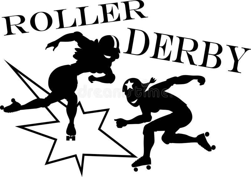 Rouleau Derby illustration de vecteur