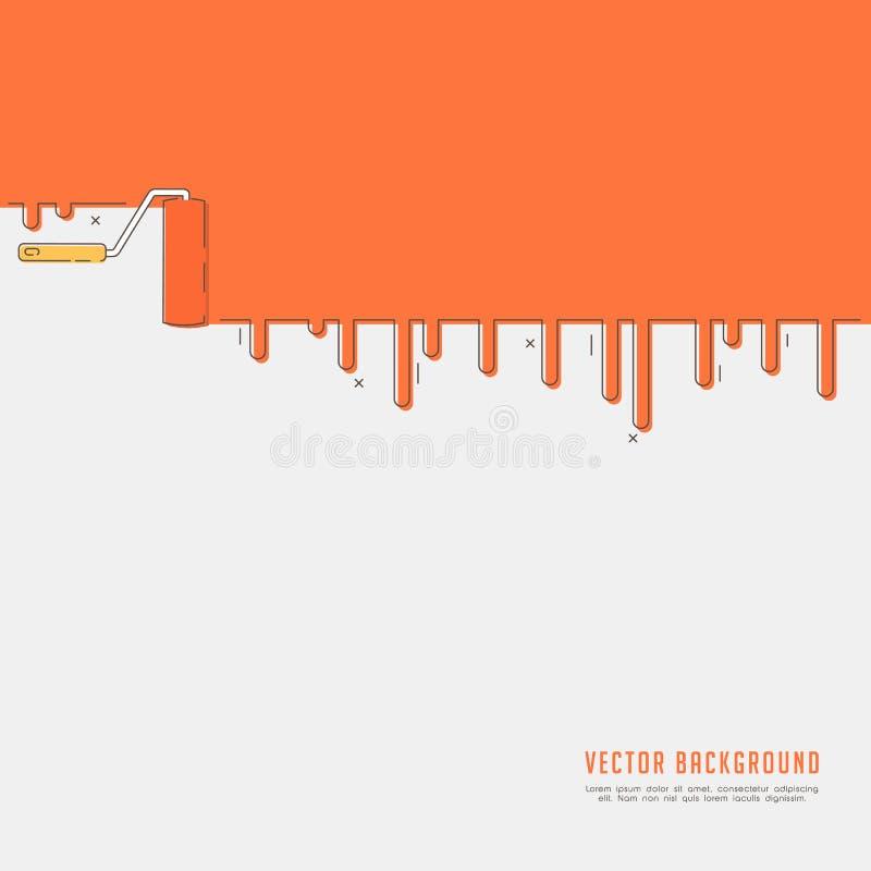 Rouleau et égouttements oranges illustration stock