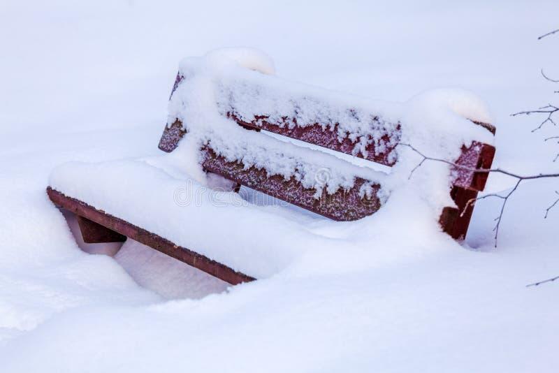 Roulement dans le banc de neige photographie stock