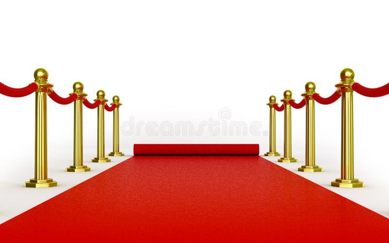 Roulement de tapis rouge dans la distance illustration de vecteur