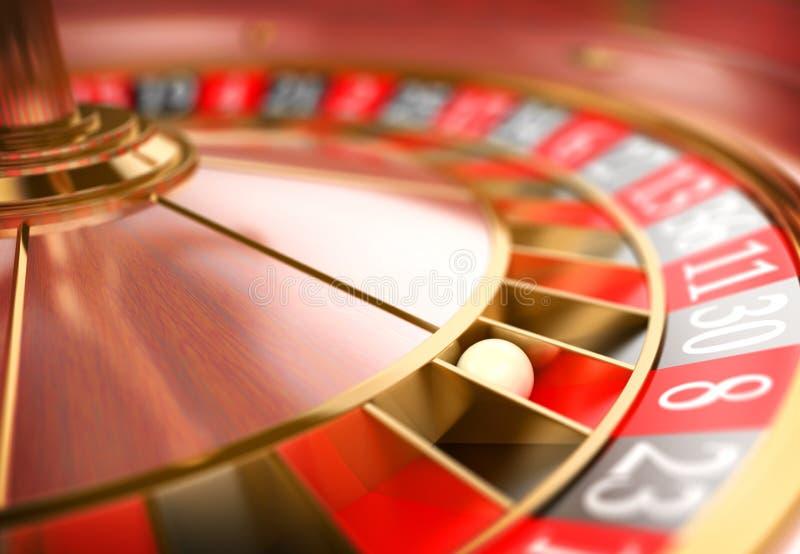 roulett för kasino 3D Pokerchiper som faller på en grön tabell arkivfoton