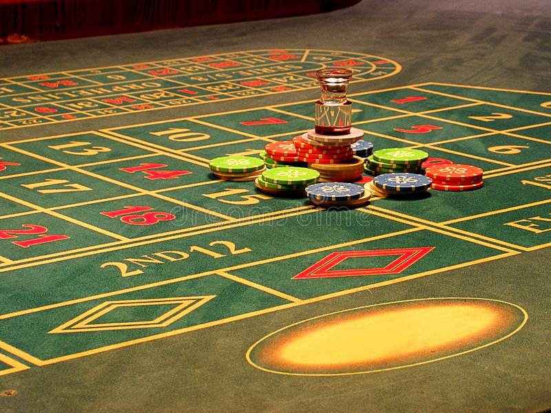 Roulette. Successful game in a roulette royalty free stock photo