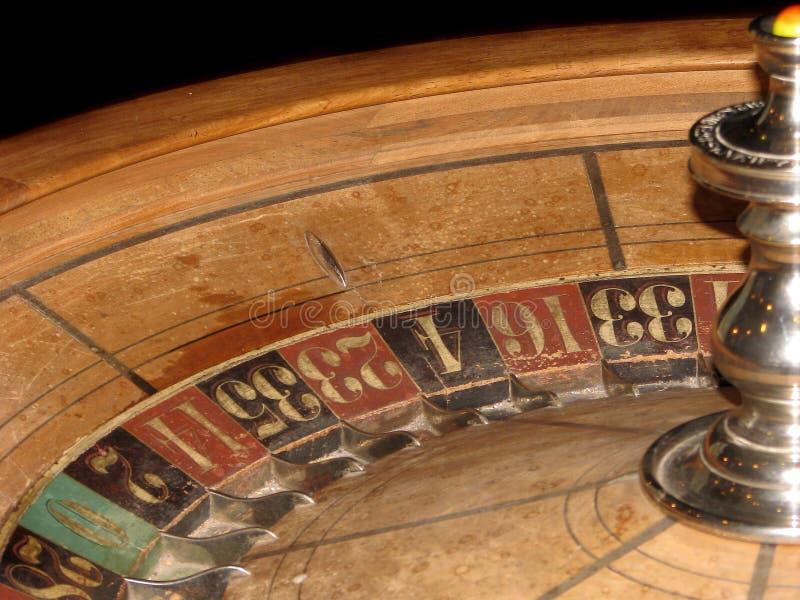 Roulette antique de casino image libre de droits