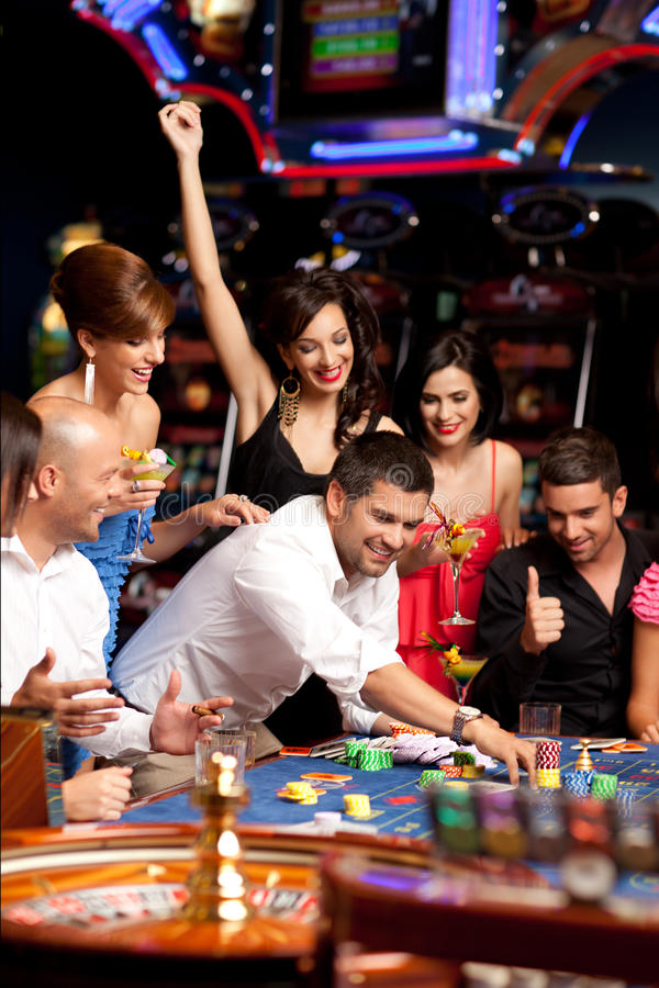 Roulette betting stock image