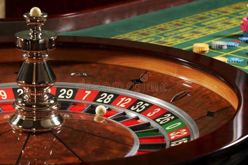 Roulette casino. In the bar stock image