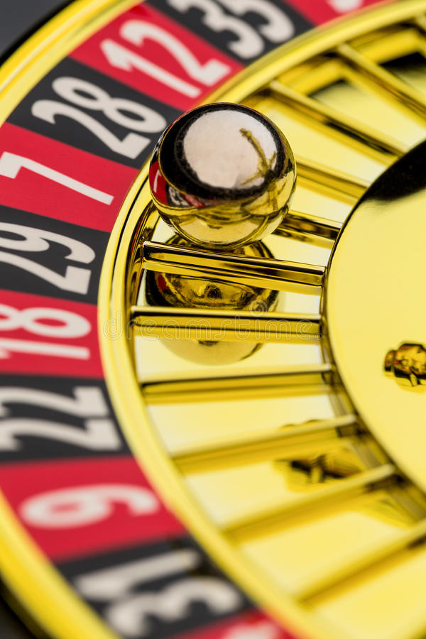 Roulette casino gambling. The cylinder of a roulette gambling in a casino. winning or losing is decided by chance royalty free stock photography