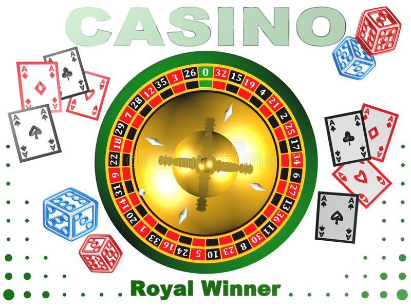 Roulette, casino game, royal games,3D illustration,logo. Roulette, casino game, royal games,best logo vector illustration