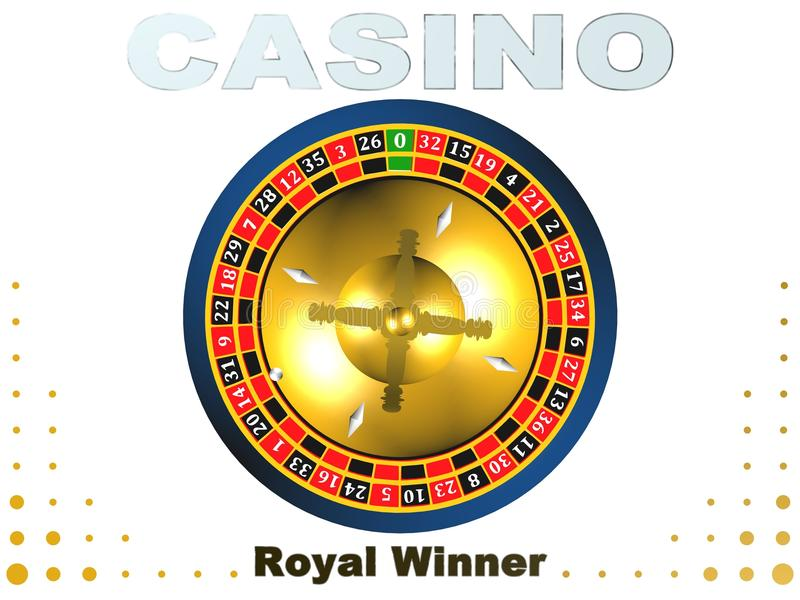 Roulette, casino game, royal games,3D illustration,logo. Roulette, casino game, royal games,best logo stock illustration