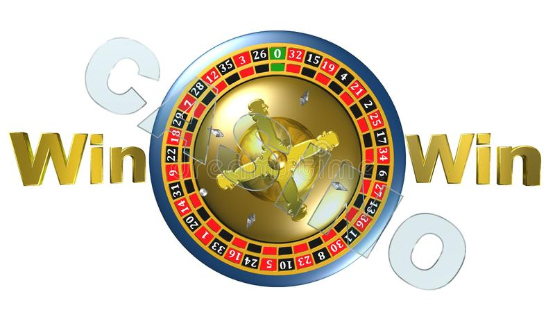 Roulette, casino game, royal games,3D illustration,logo. Roulette, casino game, royal games,best logo royalty free illustration