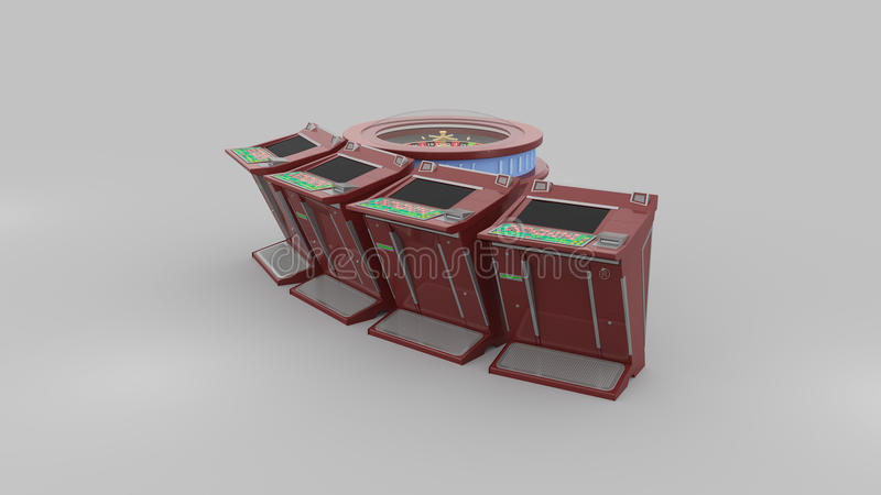 Roulette. Casino Roulette high resolution 3d render royalty free illustration