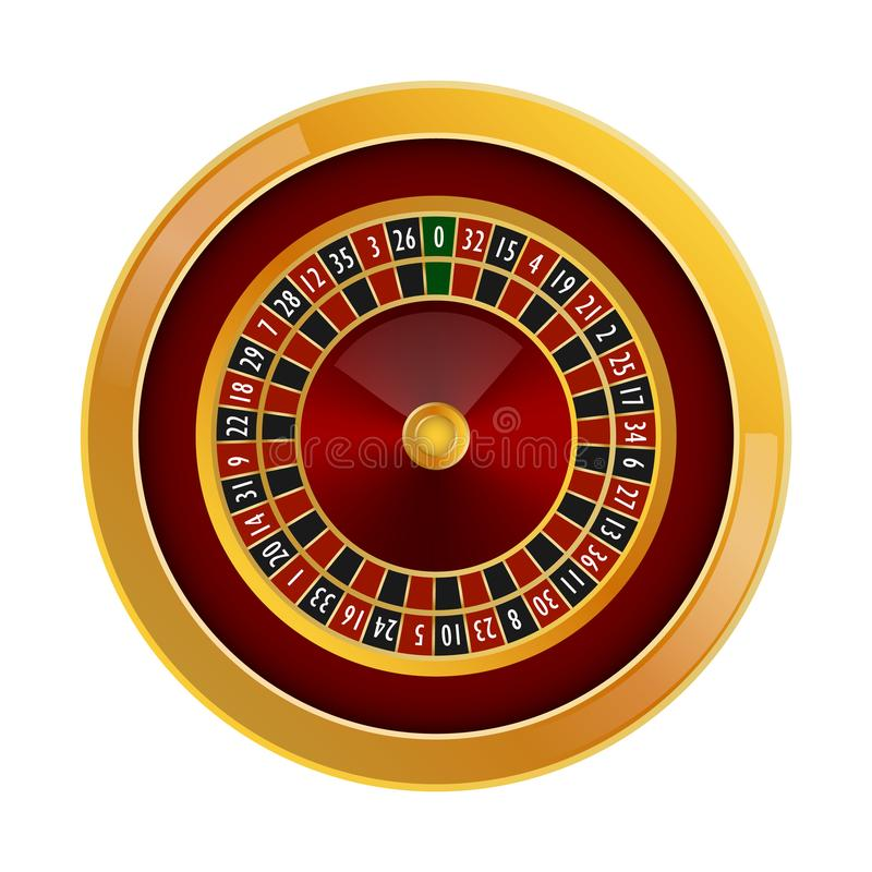 Roulette casino mockup, realistic style stock illustration