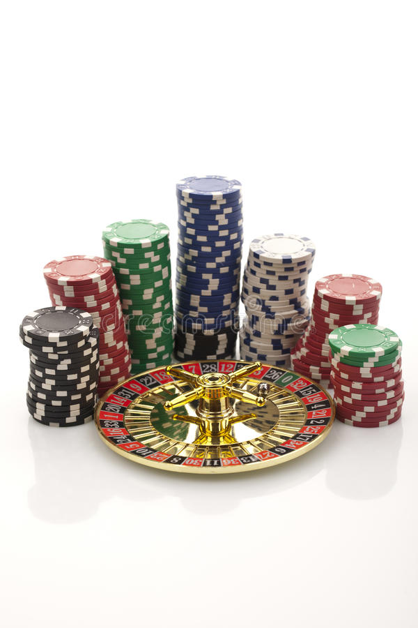 Roulette d'or photo libre de droits