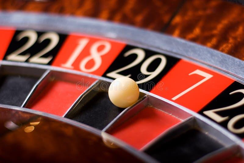 Roulette de casino, 29 victoires image libre de droits