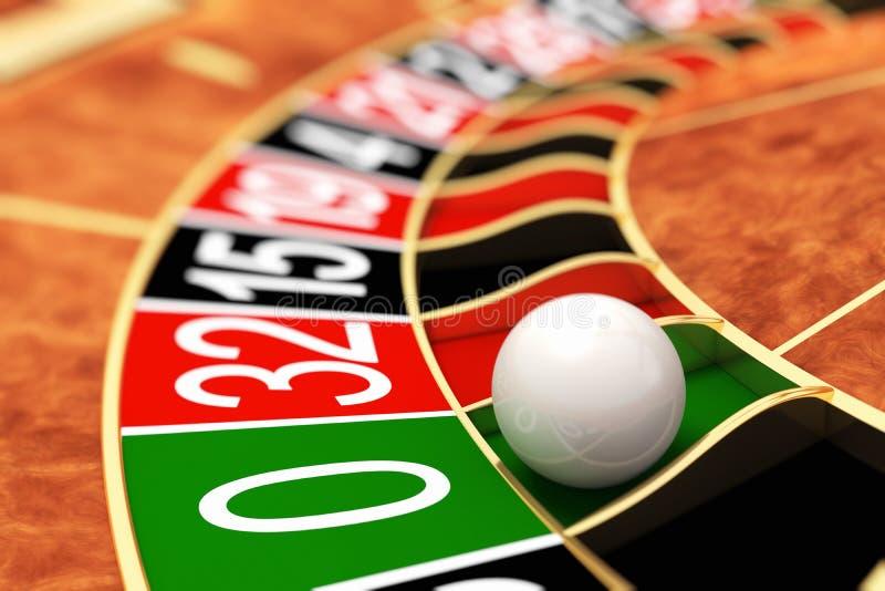 Roulette de casino zéro illustration de vecteur