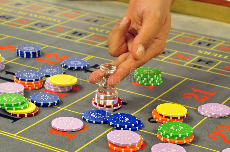 Roulette dealer stock photos
