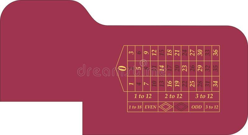 Roulette della tabella del gioco royalty illustrazione gratis