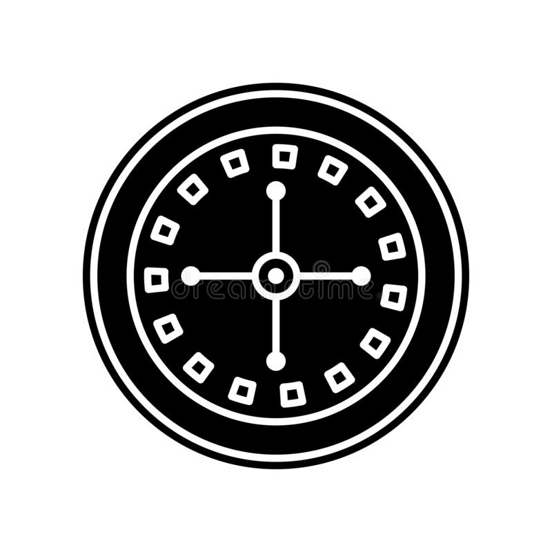 Roulette in der Kasinoikone Element des Kasinos f?r bewegliches Konzept und Netz Appsikone Glyph, flache Ikone f?r Websiteentwurf stock abbildung