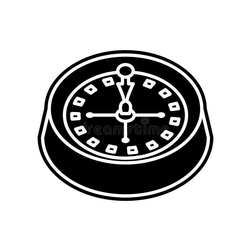 Roulette in der Kasinoikone Element des Kasinos f?r bewegliches Konzept und Netz Appsikone Glyph, flache Ikone f?r Websiteentwurf lizenzfreie abbildung