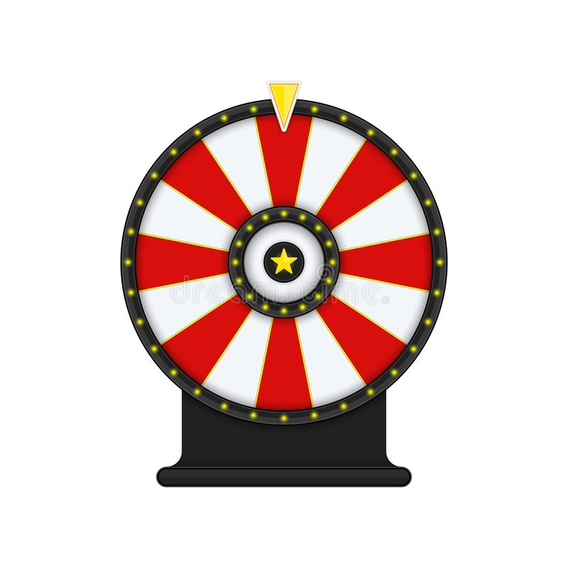 Wheel of fortune. Roulette or fortune wheel isolated on transparent background. Gambling and lottery win concept. Wheel of Fortune for game and win jackpot stock illustration