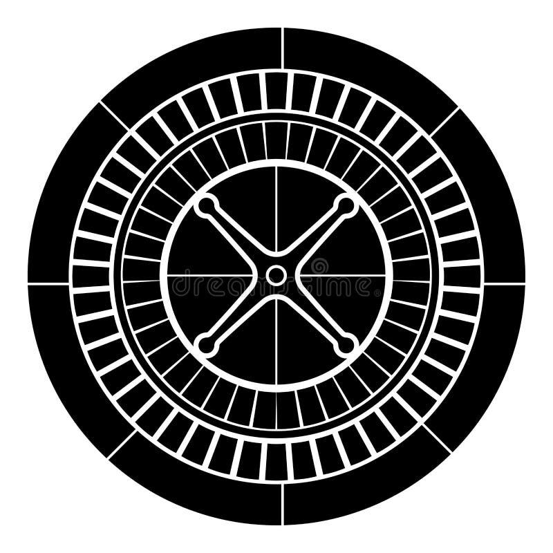 Roulette icon black color illustration flat style simple image stock illustration