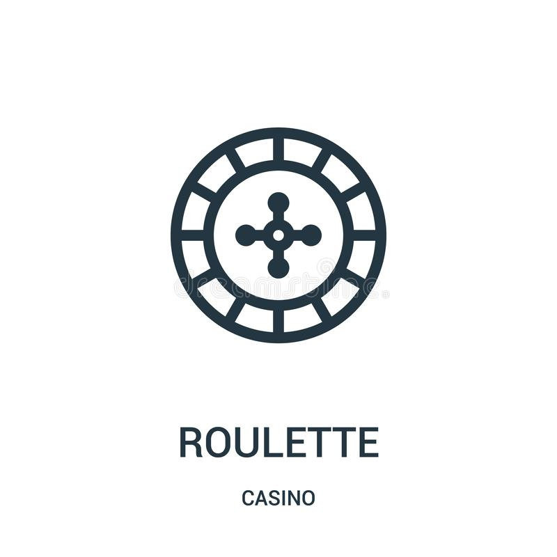 roulette icon vector from casino collection. Thin line roulette outline icon vector illustration vector illustration