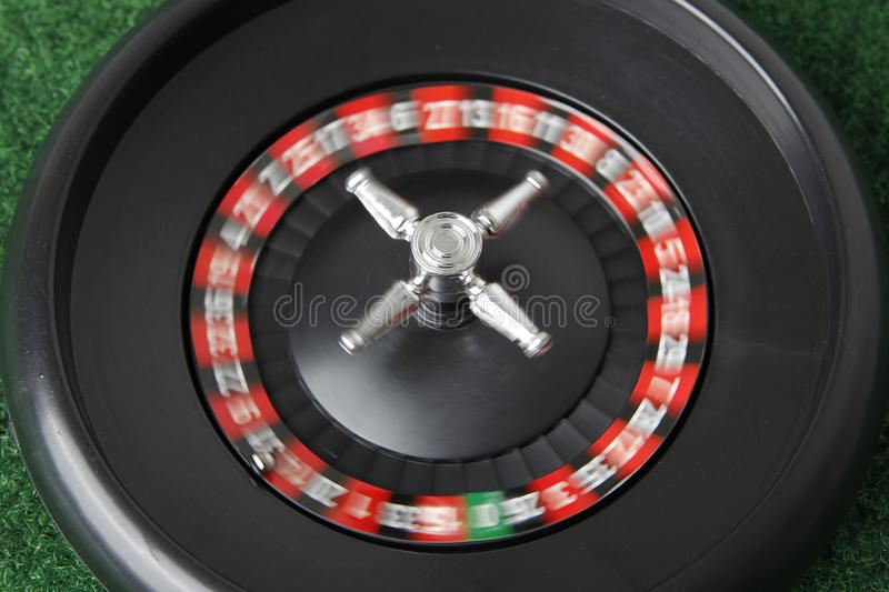 Roulette moving stock photo