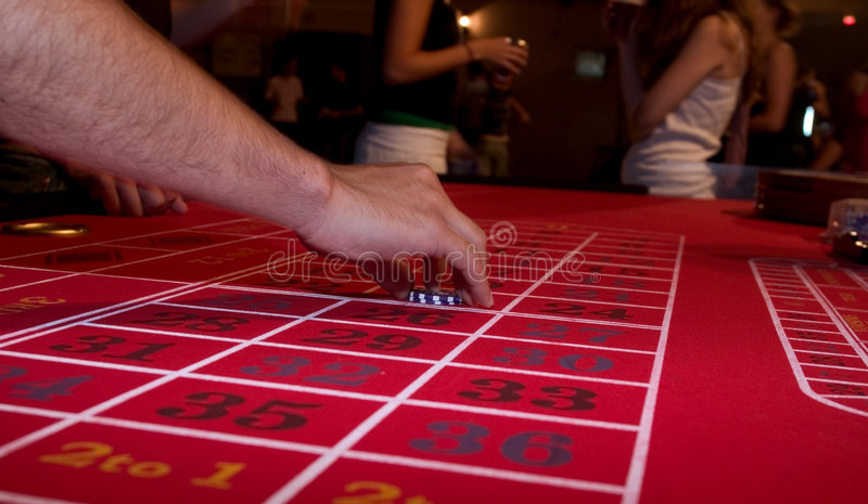 Roulette-Tabelle stockfotos