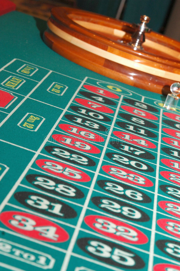 Roulette-Tabelle Lizenzfreies Stockbild