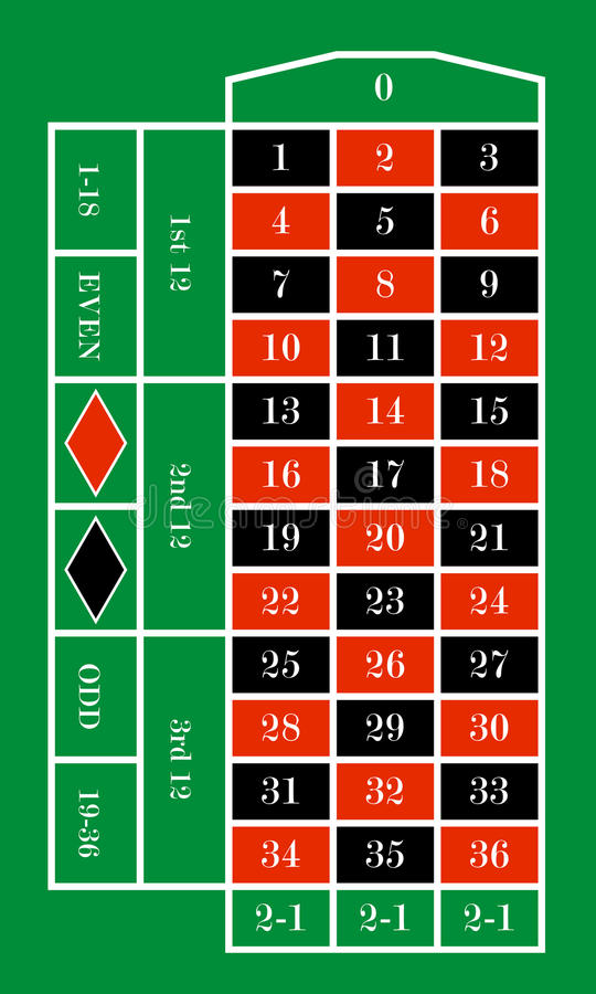 Download Roulette table stock vector. Image of gambling, addiction - 24226894