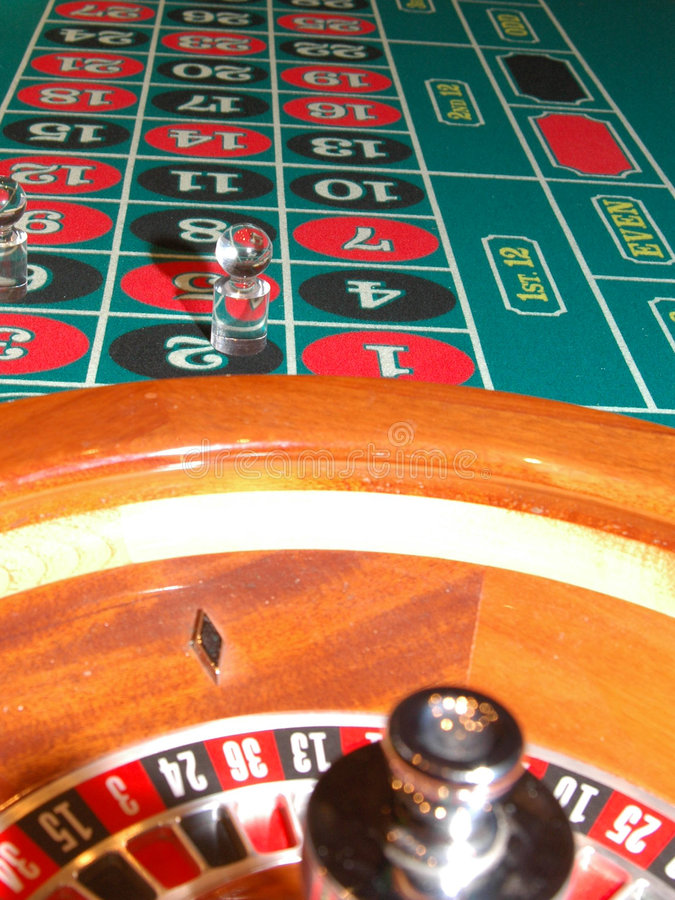 Roulette Table 6 stock image
