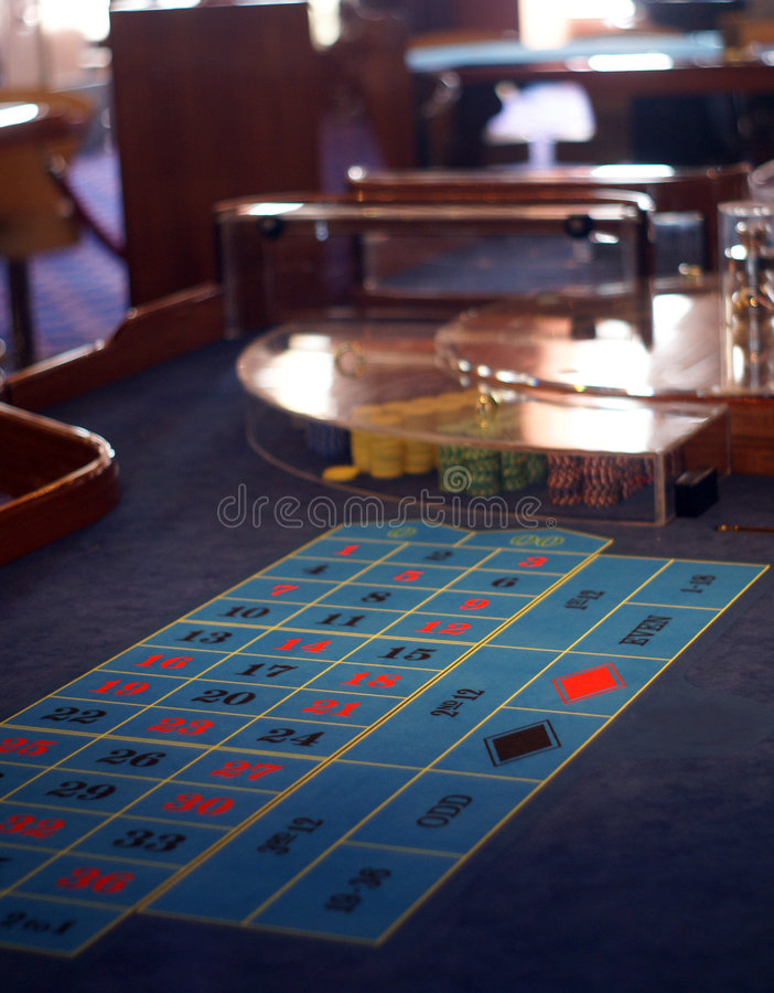 Roulette table in casino. Surface of roulette gaming table in casino stock photos