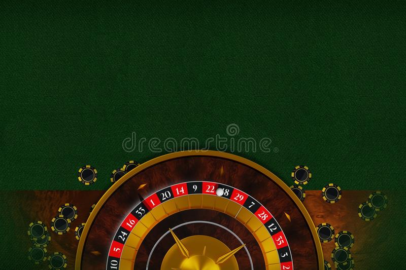 Roulette Table Copy Space royalty free stock images