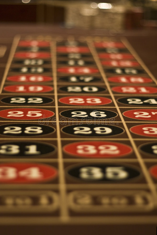 Roulette Table In Las Vegas royalty free stock photography