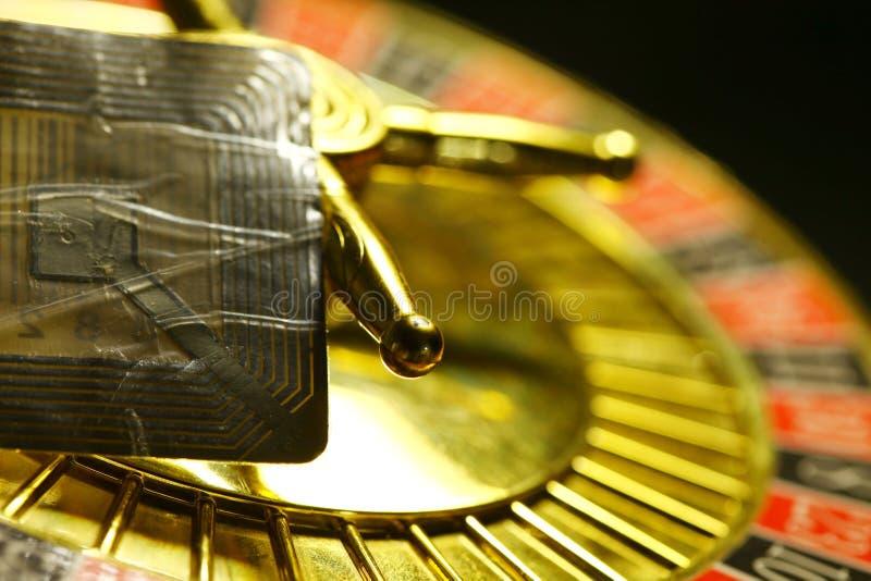 Roulette- und rfidaufkleberumbauszene lizenzfreie stockfotos
