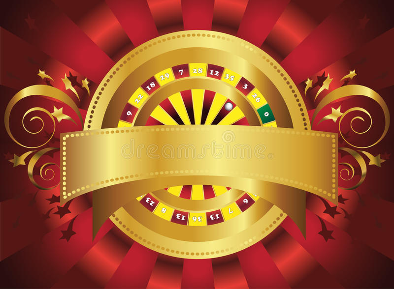 Roulette wheel stock illustration