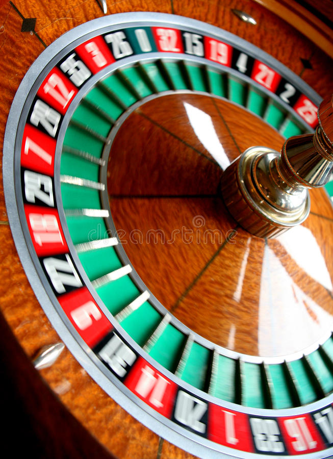 Roulette wheel stock image