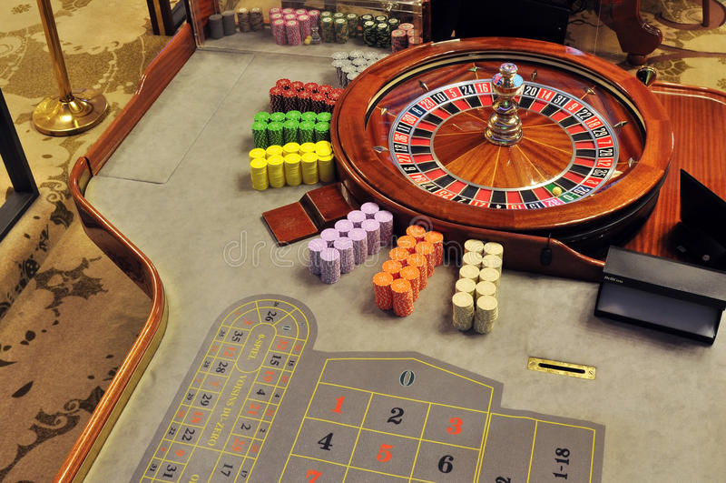 Roulette wheel stock image