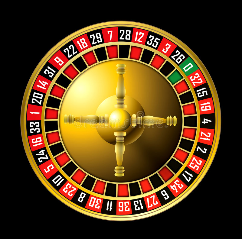 Roulette wheel royalty free illustration