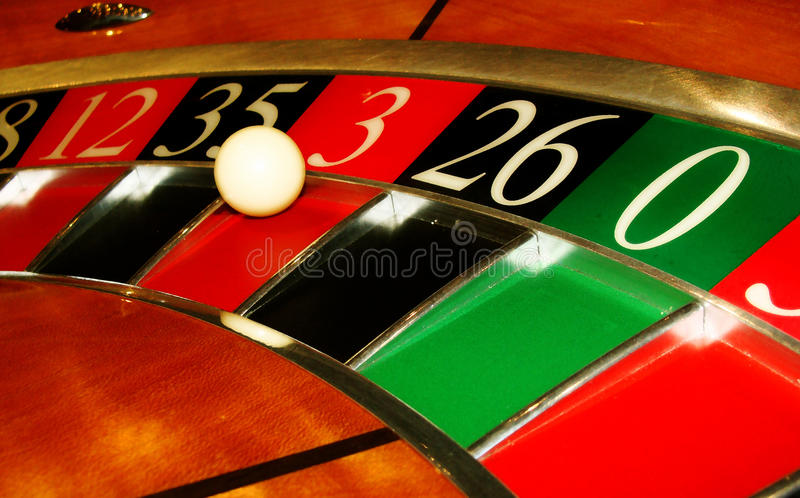 Roulette wheel close up 1 stock images