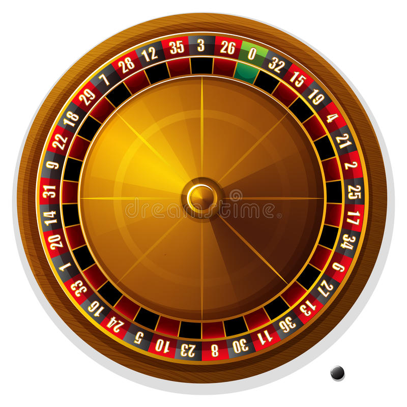 Roulette wheel vector illustration