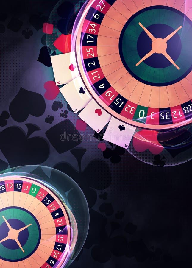 Rouletteachtergrond stock illustratie