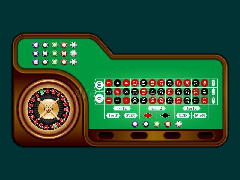 Roulettelijst vector illustratie