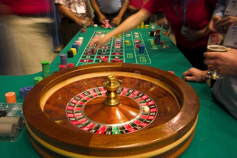 Roulettetabelle stockfotografie